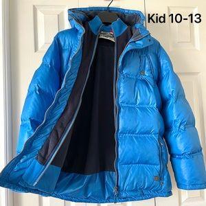 Kid Double Zip Hood Quilted Jacket